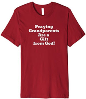 Praying Grandparents T-shirt by Christian Wit Shirts
